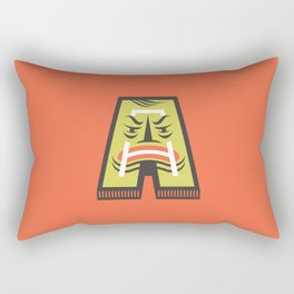A for Angry Rectangular Pillow