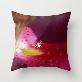 Lily Spider Throw Pillow