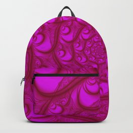 Fractal Web Red on Pink Backpack