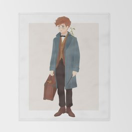 Newt Scamander Throw Blanket