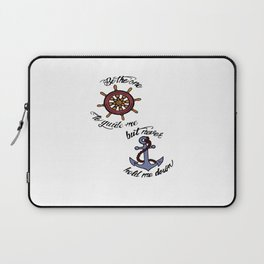 Helm and Anchor. (Larry Stylinson) Laptop Sleeve