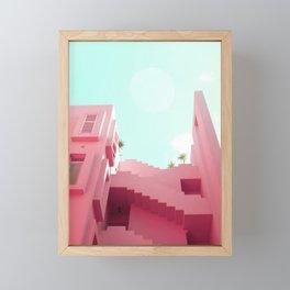 Pink Facade Moon Framed Mini Art Print