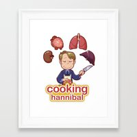 cooking Framed Art Prints featuring Cooking Hannibal by Sabrina Cotugno