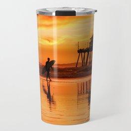 HB Sunset Surfer 12-16-18 Travel Mug