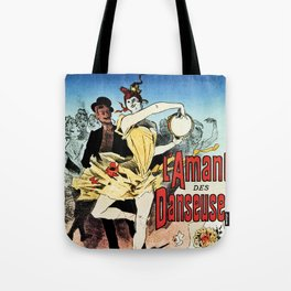The ballerina lover 1888 by Chéret Tote Bag