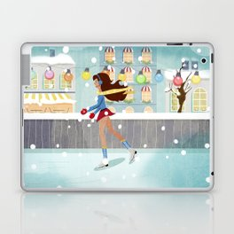 Ice Skating Girl Laptop & iPad Skin