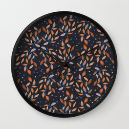 Copper Leaves  Wall Clock