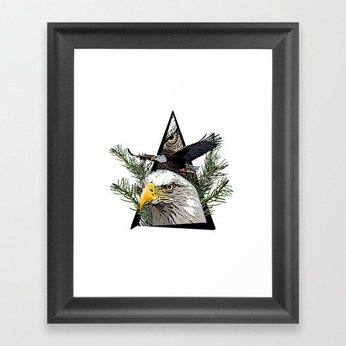 Jungle Animal Eagle ArtWork Framed Art Print