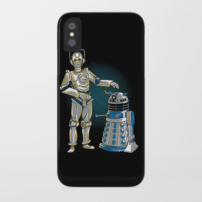 Cyber3PO and R2Dalek iPhone Case