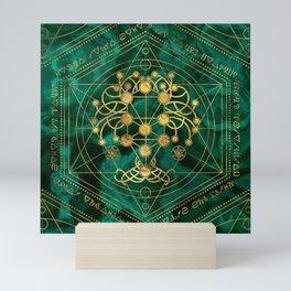 Kabbalah The Tree of Life -Malachite Mini Art Print