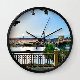 Pittsburgh Riverview Print Wall Clock
