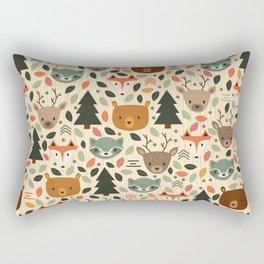Woodland Creatures Rectangular Pillow
