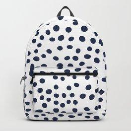 Dark blue vector doodle circle dot Backpack