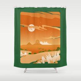 Monument Moon Shower Curtain