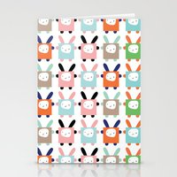 bunnies Stationery Cards featuring bunnies by PETITE PATATE