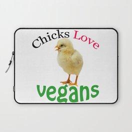 CHICKS LOVE VEGANS Laptop Sleeve