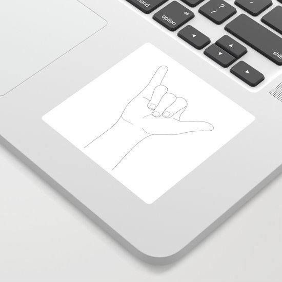 Minimal Line Art Shaka Hand Gesture by nadja1