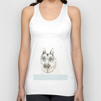 diver Tank Tops featuring Diver Dog by Cecilia Sánchez