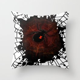 Black Widow (Signature Design) Throw Pillow