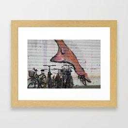 foot print Framed Art Print