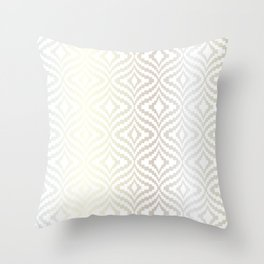 Silver Bargello Geometric Throw Pillow
