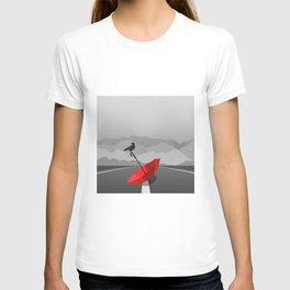 Crow and umbrella T-shirt