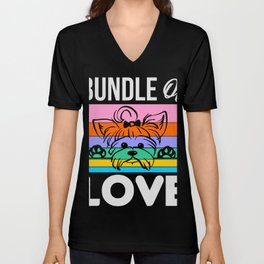 Bundle Of Love Yorkshire Terrier Yorkie T-Shirt Unisex V-Neck