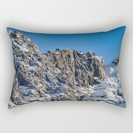 Fresh Snow-Alaskan Mountain Top Rectangular Pillow