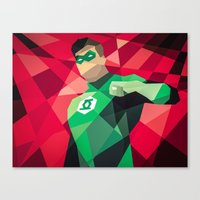 dc comics Canvas Prints featuring DC Comics Green Lantern by Eric Dufresne