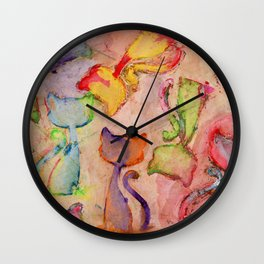 Cat Festival Wall Clock
