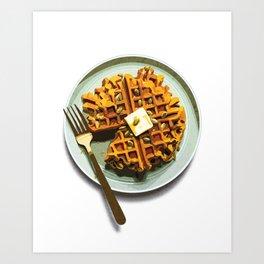 Pumpkin Waffles Art Print