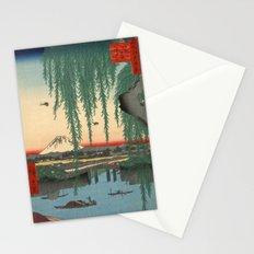 Utagawa Hiroshige Yatsumi Bridge Stationery Cards
