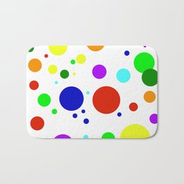 Rounded Buttons Bath Mat