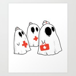 Ghost Nurse Art Print
