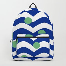 blue dotted waves Backpack