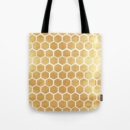Gold honey bee Tote Bag