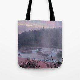 Willamette Falls at Sunset Tote Bag