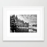 john snow Framed Art Prints featuring Elterwater Snow by JPM Design