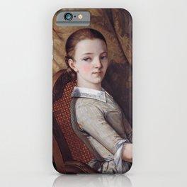 Gustave Courbet - Portrait de Juliette Courbet iPhone Case