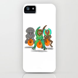 Space Hopper Dinosaurs iPhone Case