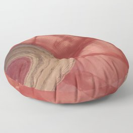 Rhodocrosite Stalagmite Slice Crystal Said to give Comfort, Passion, LOVE and Forgiveness Floor Pillow
