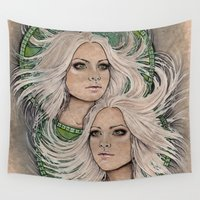 gemini Wall Tapestries featuring Gemini by MsSophieArt