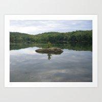Reflecting Sadness, Along the Potomac River Art Print