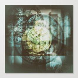 multi exposure clock Canvas Print