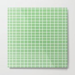 Squares of Green Metal Print