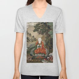 Rahula - Son of Buddha - 16th Century Unisex V-Neck