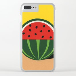 Three Quarter Watermelon Clear iPhone Case
