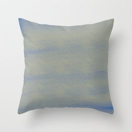 Chalky background - blue and gray Throw Pillow