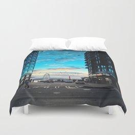 Seattle Summer Sunset Duvet Cover