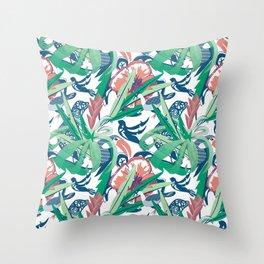 Hidden Hawaiian Celebration white Throw Pillow